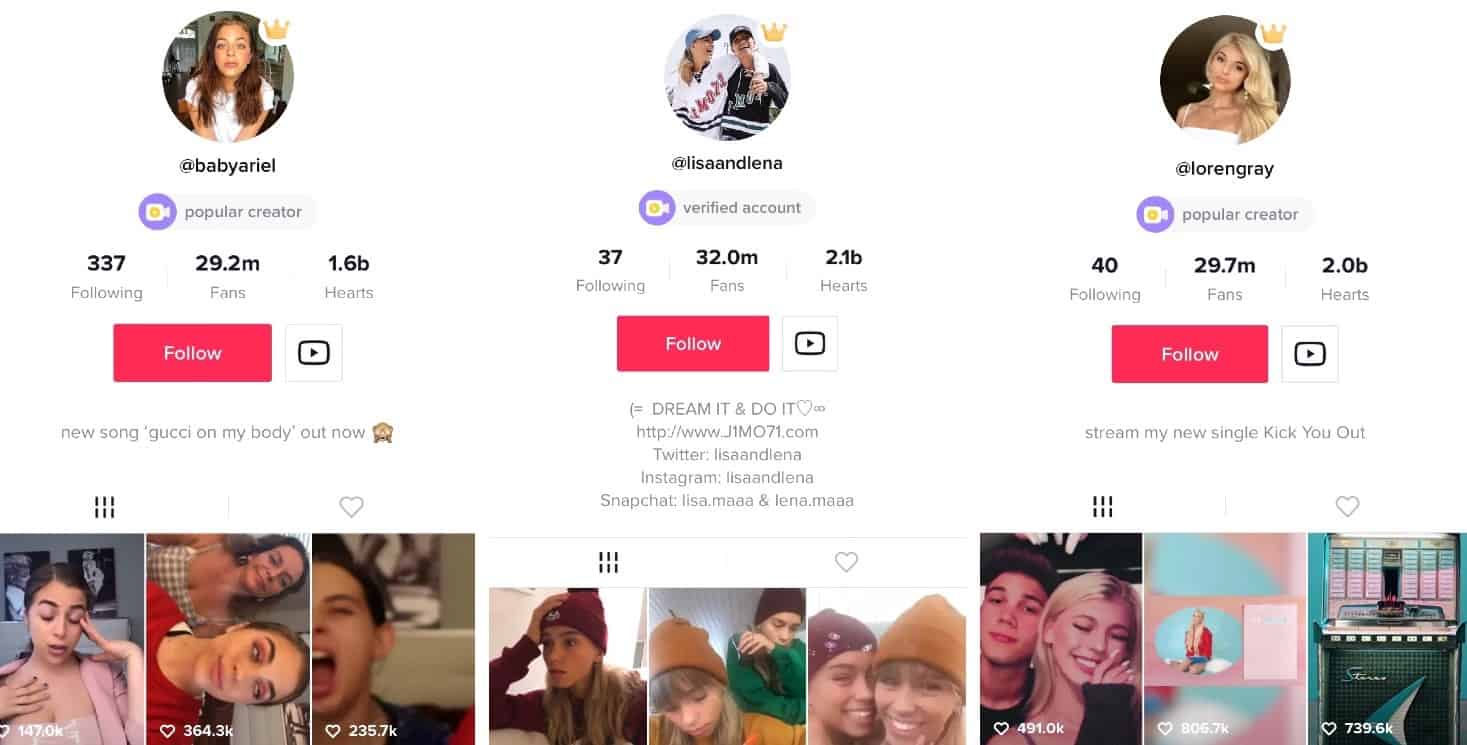 TikTok Profiles